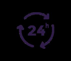 Icon 24 Stunden Service